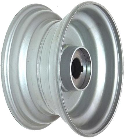"8""x3.75"" Steel Rim, 52mm Bore, 85mm Hub Length, 52mm x 25mm Keyed & Plain Bushes"