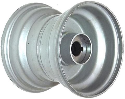 "8""x7.00"" Steel Rim, 52mm Bore, 85mm Hub Length, 52mm x 25mm Keyed & Plain Bushes"
