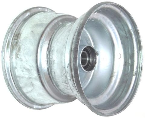 "8""x7.00"" Galv Rim, 52mm Bore, 85mm Hub Length, 52mm x 1"" High Speed Bearings"