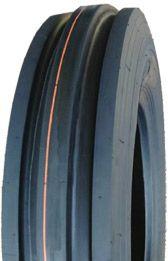 "ASSEMBLY - 8""x2.50"" Steel Rim, 350-8 4PR V8502 3-Rib Tyre, 25mm Taper Brgs"