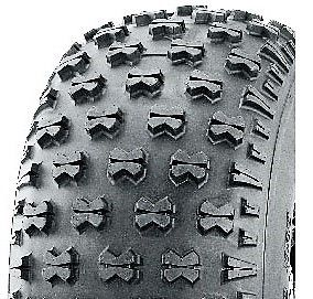 "ASSEMBLY - 8""x7.00"" Galv Rim, 20/10-8 4PR P3030 Knobbly ATV Tyre, NO BRGS/BUSHES"