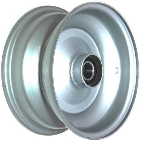 "8""x3.75"" Steel Rim, 52mm Bore, 85mm Hub Length, 52mm x 1"" High Speed Bearings"