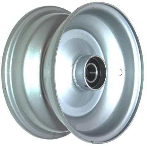 "8""x3.75"" Steel Rim, 52mm Bore, 85mm Hub Length, 52mm x 20mm High Speed Bearings"