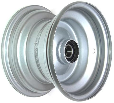 "8""x5.50"" Steel Rim, 52mm Bore, 85mm Hub Length, 52mm x 20mm High Speed Bearings"