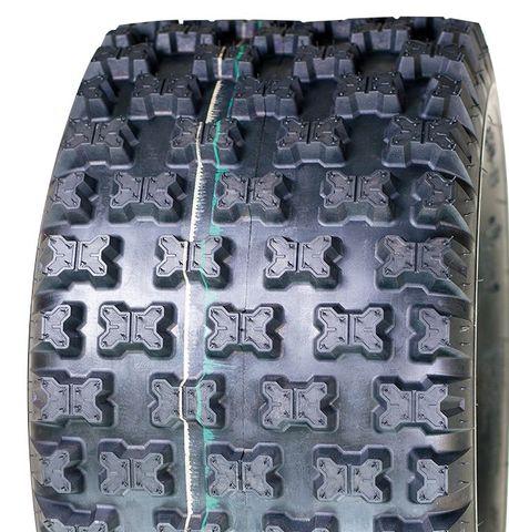 """ASSEMBLY - 8""""x7.00"""" Galv Rim, 4/4"""" PCD, 18/950-8 6PR UN712 Knobbly ATV Tyre"""