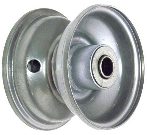 "4""x2.50"" Steel Rim, 2"" Bore, 81mm Hub Length, 2""x1"" Flange Bearings"