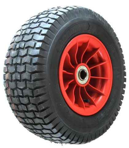"ASSEMBLY - 8""x4¾"" Plastic Rim, 2"" Bore, 16/650-8 4PR V3502 Turf Tyre, 1"" FBrgs"