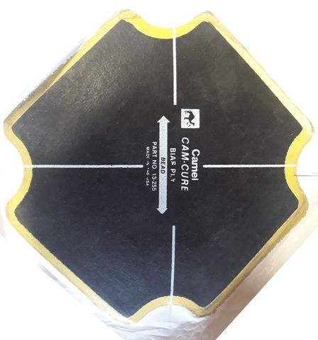 165mm x 165mm Camel Cam-Cure Bias Ply Tyre Repair Patch - 13-255