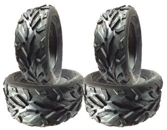 COMBO (2x ea) - 26/8R14 & 26/10R14 4PR TL DI2013 Duro Red Eagle Radial ATV Tyres