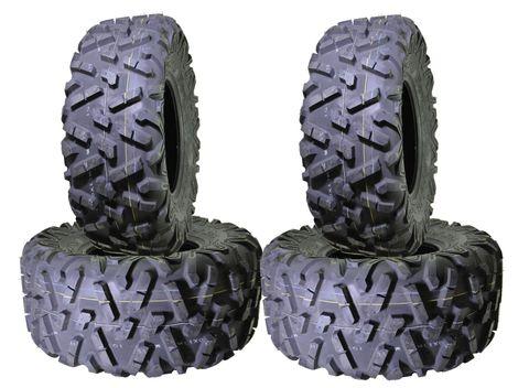 COMBO (2x ea) - 26/9R12 MU09 & 26/11R12 MU10 6PR Maxxis Bighorn Radial ATV Tyres