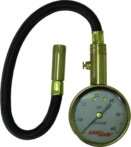 Accu-Chek H60X 0-60 p.s.i. Dial Gauge with flexible hose