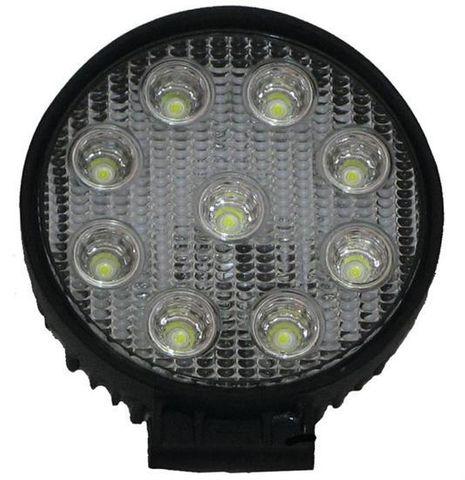 27W Wide Flood Beam LED Round Work Light - Suppressed