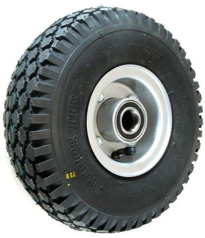 """ASSEMBLY - 4""""x2.50"""" 2-Pc Steel Rim, 410/350-4 4PR V6602 Tyre, 25mm HS Bearings"""