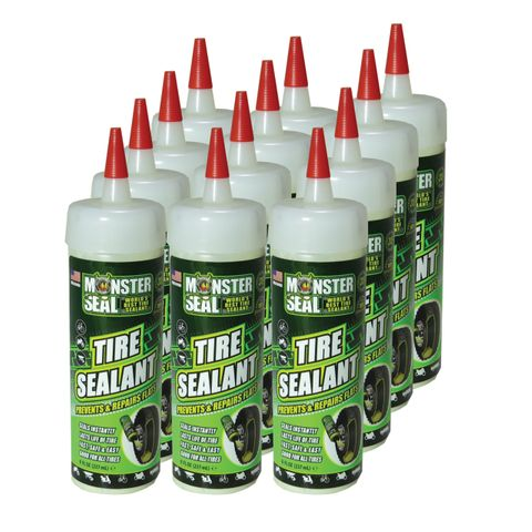 BOX OF 12 - Monster Seal Tyre Sealant, 32oz (1L)