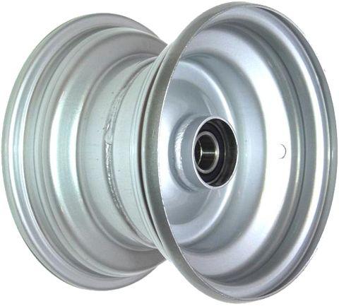 """8""""x5.50"""" Galv Rim, 52mm Bore, 85mm Hub Length, 52mm x 25mm High Speed Bearings"""