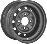 "12""x6.00"" Black Steel Rim (Front ATV), 4/110mm PCD, 55mm Bore, ET+38"