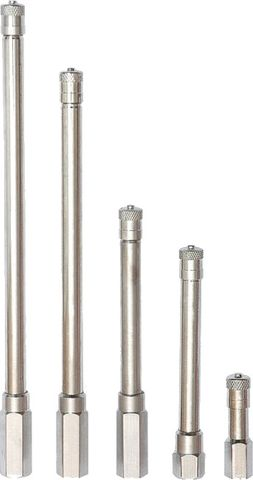 Valve Extension, Chrome-Plated Brass, 127mm effective length