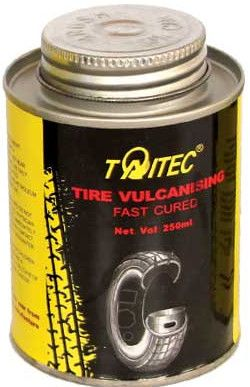 Taitec Tire Vulcanising Fast Cured (glue),250ml,fast cure,fast dry(Clear)