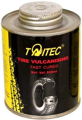 Taitec Tire Vulcanising Fast Cured (glue),500ml,fast cure,fast dry(Blue)-TW9500