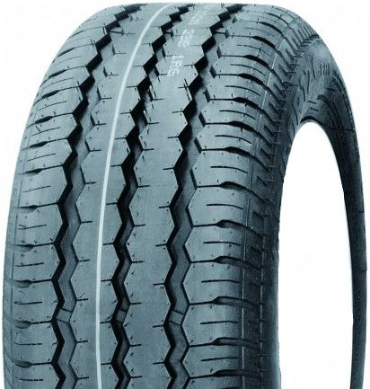"""ASSEMBLY - 10""""x6.00"""" Galv Rim, 4/4"""" PCD, 195/55R10 98/96P WR068 Trailer Tyre"""