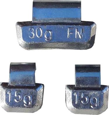 BAG OF 100 - 25g Bang-on FN Clip Lead Wheel Weights for Alloy Wheels