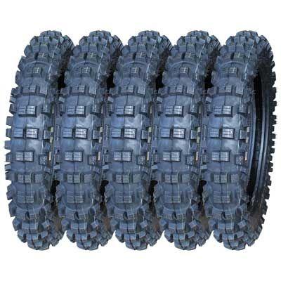 BUNDLE (5x) - 100/100-17 4PR LS8978 TT Longshine Knobby Motorcycle Tyres(410-17)