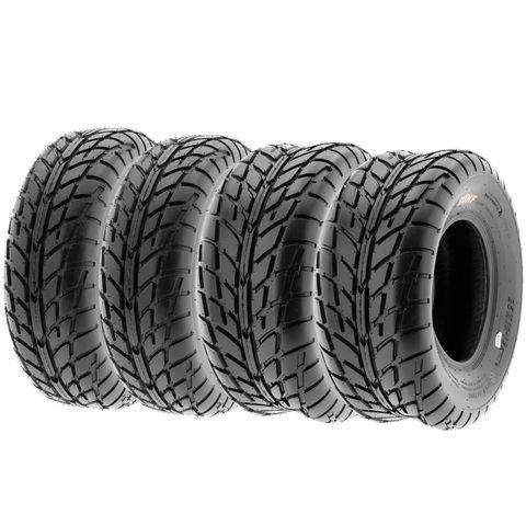 COMBO (2x ea) - 25/8-12 & 25/10-12 6PR TL A021 Sun.F HS Road Tread ATV Tyres