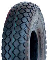 """ASSEMBLY - 5""""x55mm Plastic Rim, 400-5 4PR V6534 Tyre, ¾"""" Flange Bearings"""