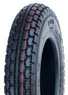 "ASSEMBLY - 6""x63mm Plastic Rim, 250-6 4PR V6612 Block Tyre, ¾"" Bushes"