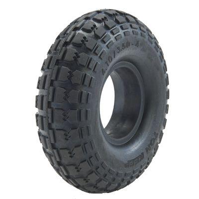 "ASSEMBLY - 4""x2.00"" 2-Pc Zinc Coated Rim, 410/350-4 Solid PU Block Tyre,16mmBush"