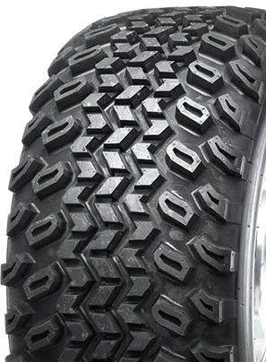 """ASSEMBLY - 9""""x4.00"""" Galv Rim, 4/4"""" PCD, 21/8-9 2PR HF244 Knobbly Tyre"""