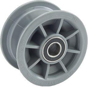 "4""x55mm Nylon Graphite Rim, 42mm Bore, 56mm Hub Length, 25mm High Speed Bearings"