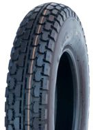 "ASSEMBLY - 8""x65mm Plastic Rim, 250-8 4PR V6607 Block Tyre, 1"" Bushes"