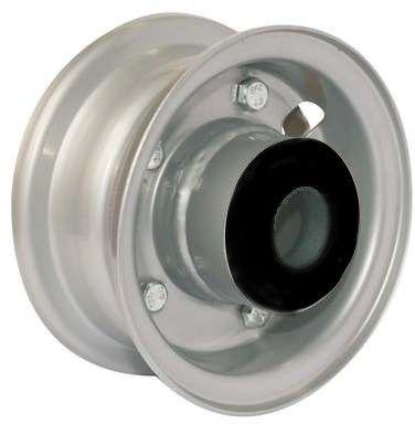 """4""""x45mm 2-Pc Steel Rim, 2"""" Bore, Hub Length 81mm, 2""""x1"""" Nylon Bushes"""