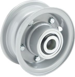 "4""x45mm 2-Pc Steel Rim, 2"" Bore, Hub Length 81mm, 2""x¾"" Flange Bearings"