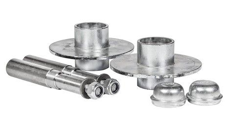Hub Set, 1500kg, Cast Steel, Galvanised, Blank, Taper Roller Brgs, Marine Seals