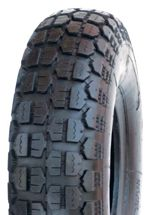 "ASSEMBLY - 6""x65mm Steel Rim, 400-6 4PR V6632 HD Block Tyre, ¾"" Nylon Bushes"