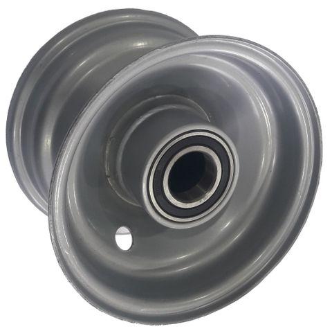 "4""x2.50"" Steel Rim, 35mm Bore, 75mm Hub Length, 35mm x 17mm High Speed Bearings"