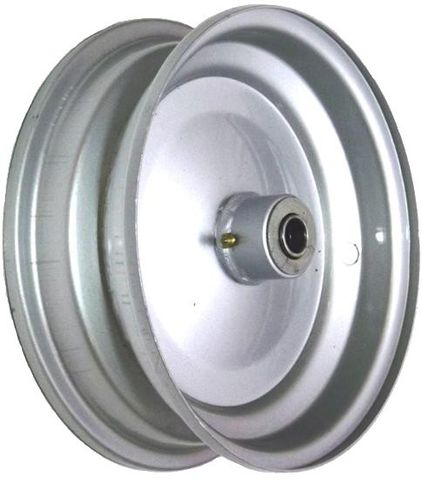 "6""x65mm Steel Rim, 35mm Bore, 82mm Hub Length, 35mm x ½"" Flange Bearings"