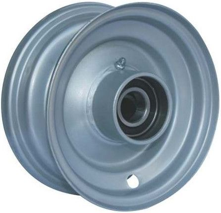 "5""x3.25"" Steel Rim, 47mm Bore, 64mm Hub Length, 47mm x 20mm High Speed Bearings"