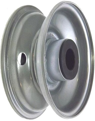 "6""x64mm Steel Rim, 2"" Bore, Hub Length 83mm, 2""x¾"" Nylon Bushes"