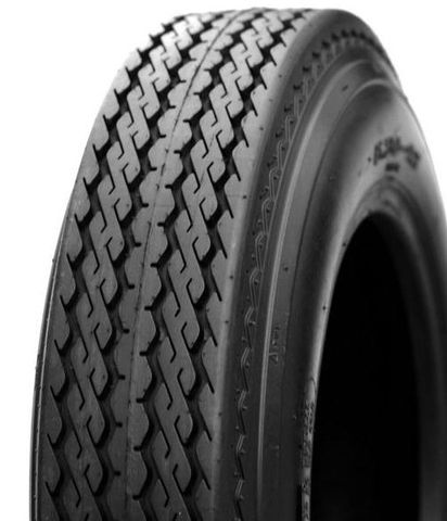 "ASSEMBLY - 8""x3.75"" Steel Rim, 480/400-8 4PR KT701 Trailer Tyre, NO BRGS/BUSHES"