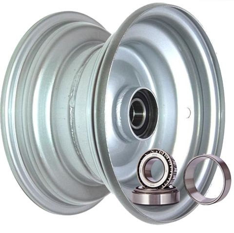 "8""x5.50"" Galv Rim, 52mm Bore, 85mm Hub Length, 52mm x 25mm High Speed Taper Brgs"