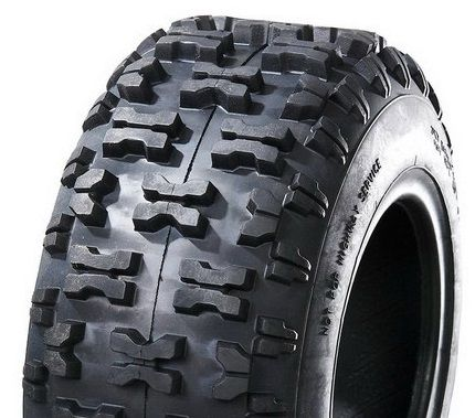 """ASSEMBLY - 6""""x4.50"""" Galv Rim, 2"""" Bore, 13/500-6 6PR A018 Knobbly Tyre, 1"""" FBrgs"""