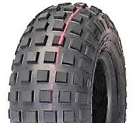 "ASSEMBLY - 6""x4.50"" Galv Rim, 2"" Bore, 15/600-6 2PR HF240B Knobbly Tyre,1"" FBrgs"