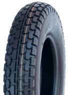 "ASSEMBLY - 8""x65mm Steel Rim, 1"" Plain Bore, 250-8 4PR V6607 Block Tyre"