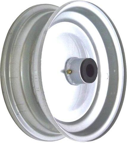 """8""""x65mm Steel Rim, 35mm Bore, 76mm Hub Length, 35mm x ½"""" Nylon Bushes"""