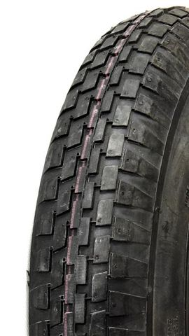 "ASSEMBLY - 8""x65mm Steel Rim, 2"" Bore, 300-8 4PR V6635 Block Tyre, 1"" FBrgs"