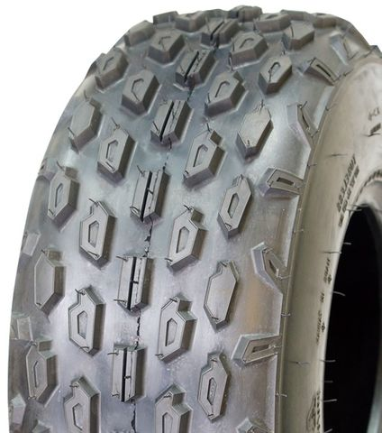 "ASSEMBLY - 8""x5.50"" Galv Rim, 19/7-8 6PR UN722 Knobbly ATV Tyre, 25mm Keyed Bush"