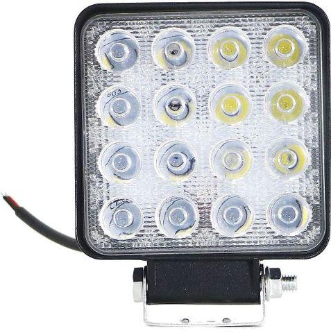 48W LED Square Worklight - Flood Beam